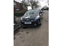 Reg 2012 Toyota Prius plus 1.8 hybrid auto, 1 owner, 48300/s/h, hpi clear 100% ,PCO TAXI LICENCE