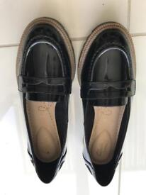 Black patent shoes from Clarks *brand new*