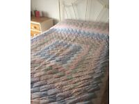 Double patchwork throw