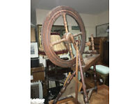 Adorable Antique Traditional Working Solid Oak Treadle Spinning Wheel
