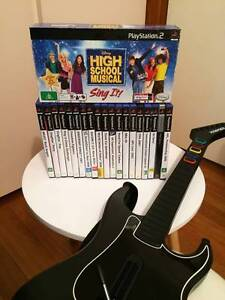 $85 for 19 X PS2 GAMES, 2 X PS2 M/PHONES & 1 X PS2 KRAMMER GUITAR Endeavour Hills Casey Area Preview