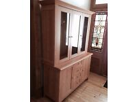 Sideboard with display cabinet