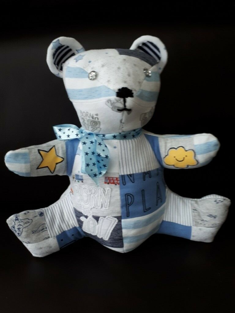 d64807960 Custom made Teddy Bears from babies used babygrows and clothing