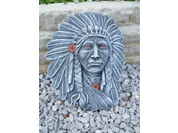 indian chief wall plaque £8