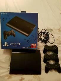 PS3 SUPER SLIM 500GB + 37 GAMES!!
