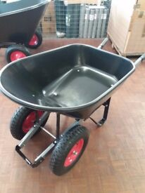 Plastic 100L Twin Wheeled barrow