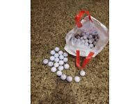 Seve MD half set clubs plus 6 additional clubs, trolley and golf balls.