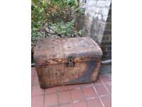 Unique antique marine chest /coffee table