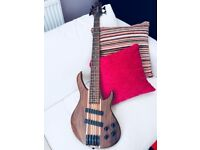 Harley Benton HBZ-2005 Deluxe Series 5 String Bass Guitar. Never used. 2 Year warranty.