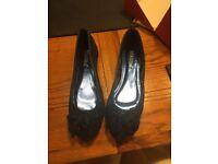 Ladies blue ballet pumps - unworn