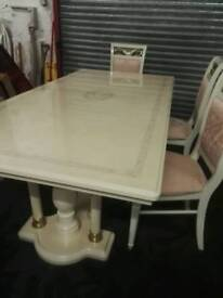Italian table with chairs