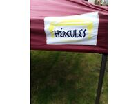 Lovely 3x3meter pop gazebo with 4 velcro sides trolley bag and weights only used twice very sturdy