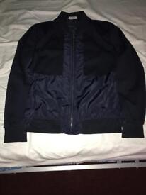 Zara Bomber Jacket in Navy - Size L