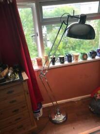 Large anglepoise chrome floor lamp