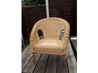 Children's Wicker \Chair