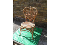 Chair Wicker / Bedroom / Study / outhouse / summerhouse / conservatory #FREE LOCAL DELIVERY#