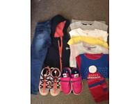 Girls clothes and shoes bundle age 4