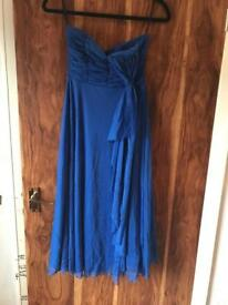 Strapless electric blue dress size 10