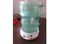 SWAN STEAMER - 3 TIER WITH RICE BASKET