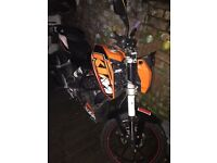 KTM duke 125cc for sale road legal