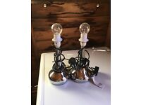 2 x matching touch lamps