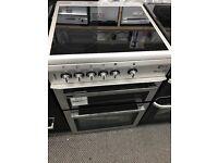 New Graded Flavel 60cm Double Door Ceramic Electric Cooker - Silver