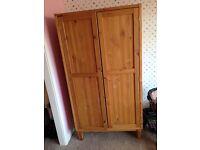 Small children's pine wardrobe