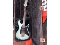 Ibanez guitar in rare blue
