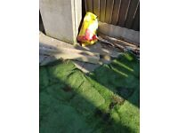 Artificial grass in used condition
