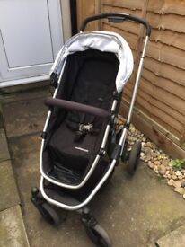 Mothercare Xpedior Pushchair Buggy Stroller Black