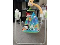 Fisher price discover n grow space saving baby swing