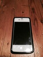 White iPhone 4S 16G - with Iskin case black