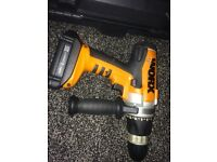 2 x drills.. black and decker and worx