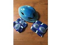 Kids bike helmet & pad set