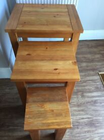 Next Dining table, corner tv unit, cabinet and nest of tables