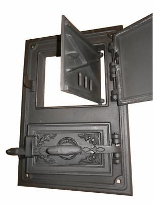 Cast Iron Fire Door Clay Bread Oven Pizza Stove Quality Grey (FS) 47 x 33