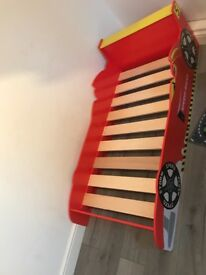 Racing car bed only 6 months okd