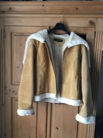 Baby Phatt Sheepskin Jacket Split hood XL Size 16