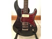 Yamaha Pacifica 611HFM Electric Guitar in trans black