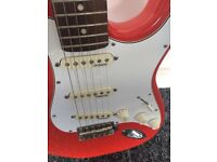 Red And White Vintage Electric Guitar Wilkinson Pick Ups Stratocaster