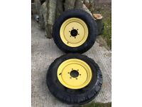 PAIR GOODYEAR 6.00 - 16 TYRES COMPLETE WITH RIMS
