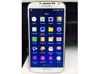 Samsung galaxy S4 GT-i9505 Smart Mobile phone unlocked. White 16GB with Warranty & Receipt