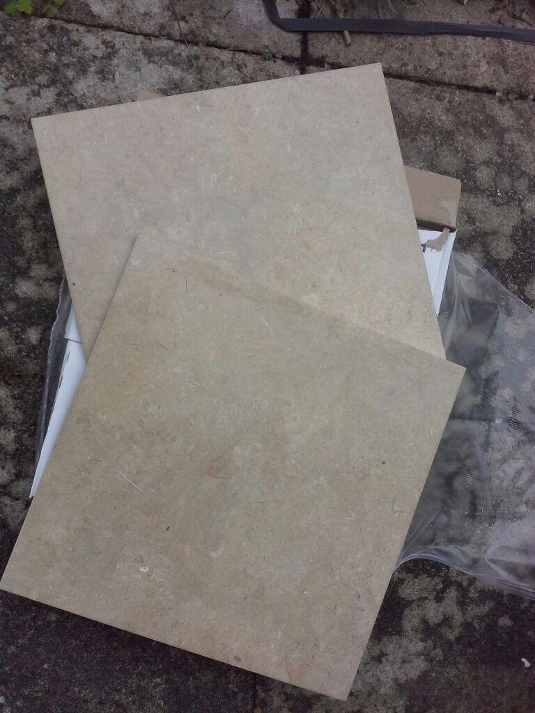 Kitchen Tiles Leicester floor tiles .. marbled sand colour .. bathroom / kitchen .. 430 x