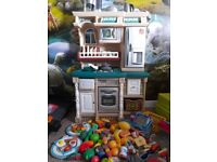 Step2 kids toy kitchen plus lots of food and accessories