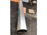 400mm Galvanized Steel Spiral Ducting 3.0m