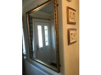 A Solid Coloured Gold Edge Mirror