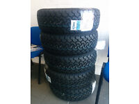 Set 4 x Brand new Event Tyres size 215 65 16 ideal for 4v4