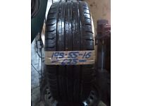 195-55-16 Continental ContiEcoContact 5 87H 7mm Part Worn Tyre