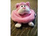 Pink cat tummy stuffer