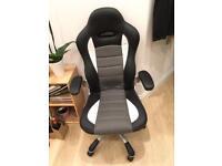 Racing chair black/white/grey